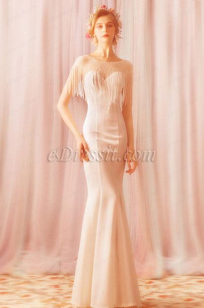 eDressit Sexy Crystal Tassel Mermaid Elegant Party Prom Dress (36200207)
