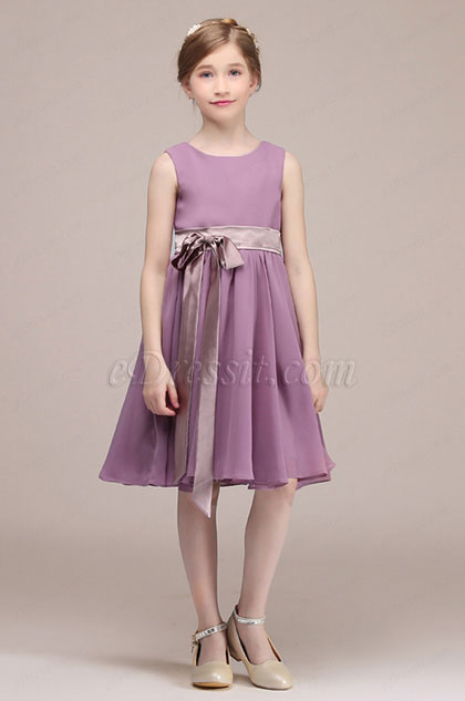 eDressit Purple Sleeveless Kids Wedding Flower Girl Dress(28192806)