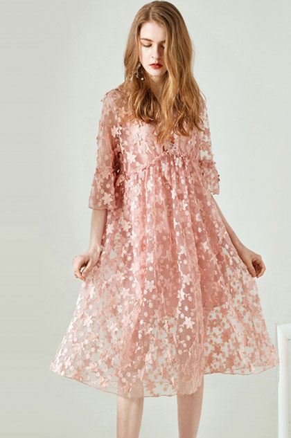 eDressit Sexy V-Cut Lace Applique Day Dress (30194901)