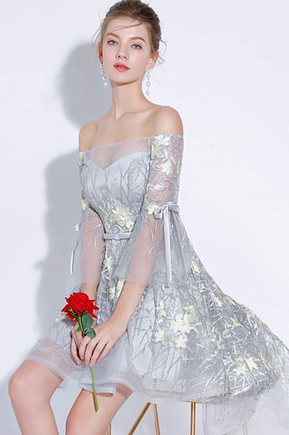 eDressit Chic Off Shoulder Floral LaceTulle Cocktail Dress (35197608)