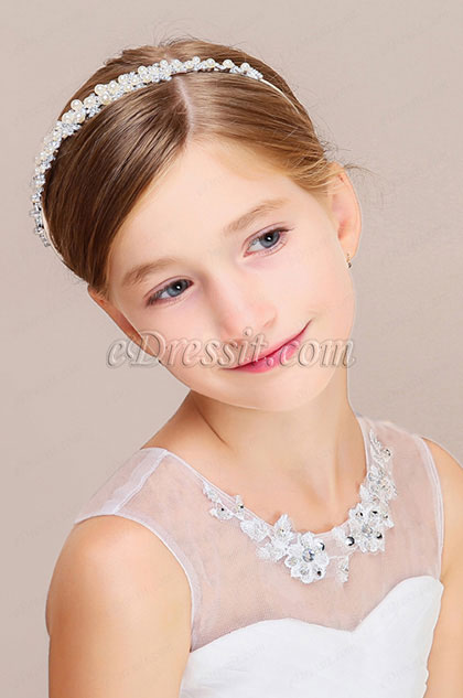 eDressit Shiny Beads Girl Headwear Hair Hoop (13191026)