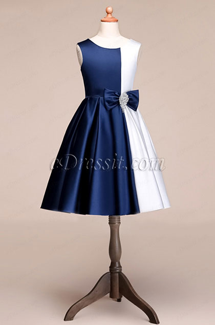 eDressit Lovely Short Blue-White Princess Party Girl Dress (28191305)