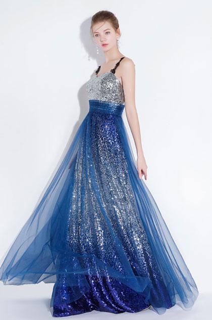 eDressit Blue Straps Sequins Long Party Formal Dress (36216705)