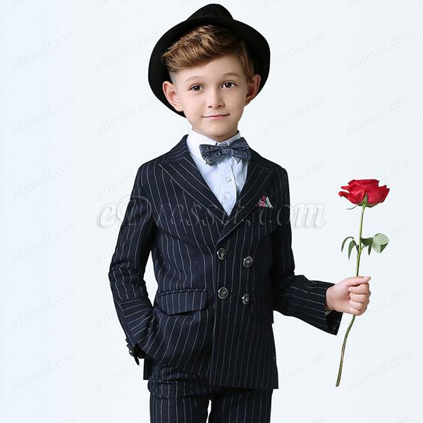 eDressit Boys Blue with White Strips Children Tuxedo Suits (16190405)