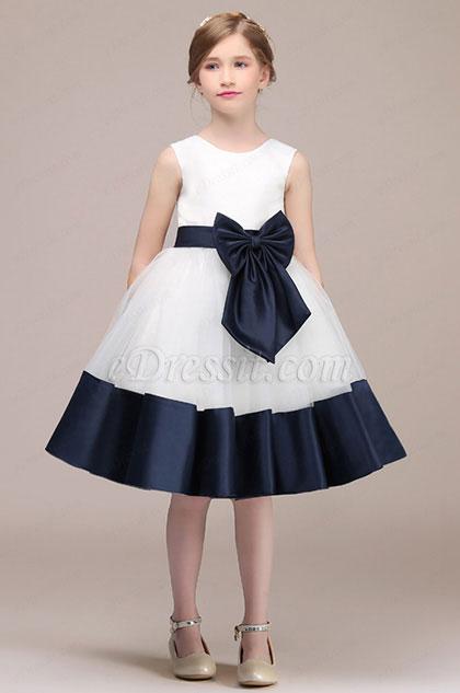 eDressit White/Blue Sleevless Lovely Flower Girl Dress (28193607)