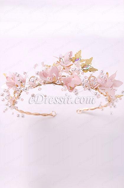eDressit Pink Flower Fairy Girl Headwear Hair Hoop (13191401)