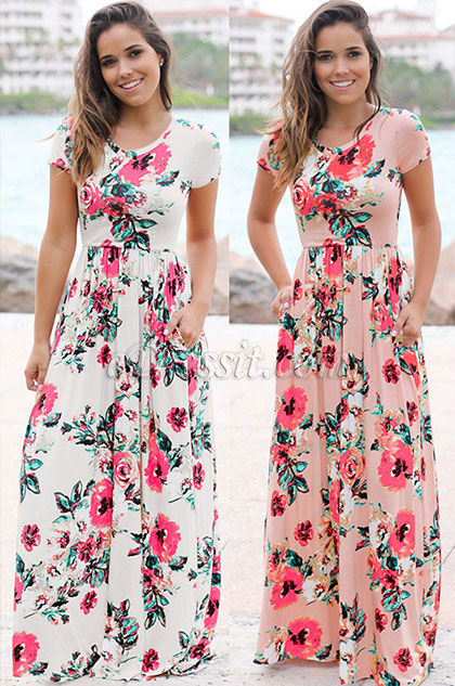 eDressit Round Neck Short Sleeves Summer Dress (36190268)