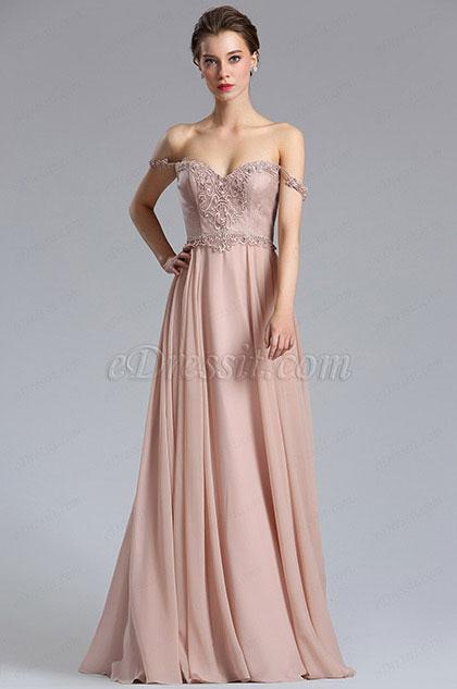 eDressit Elegant A Line Off Shoulder Evening Dress Formal Dress