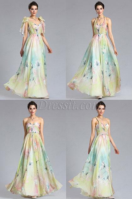 eDressit A Line Strapless Print Evening Dress Bridesmaid Dress (00182868)