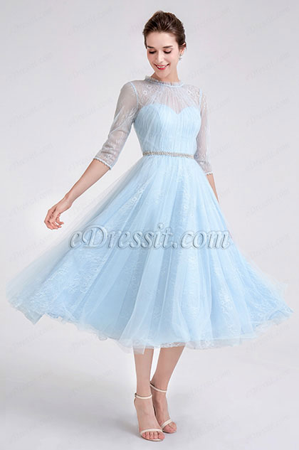 eDressit Blue High Neck Tulle Party Prom Dress (04190132A)