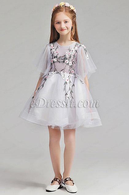 eDressit Lovely Short Sleeves Flower Girl Dress (28196607)