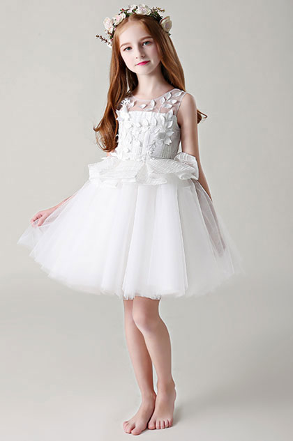 eDressit Princess White Sleeveless Wedding Flower Girl Dress (28198507)