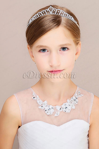 eDressit Silver Beads Girl Headwear Hair Hoop 13191126)