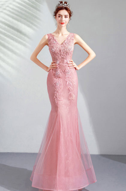 eDressit Sexy V-Cut Embroidery Mermaid Party Prom Dress (36212901)