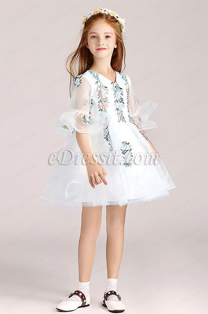 eDressit White Short Flower Girl Wedding Party Dress (28190807)