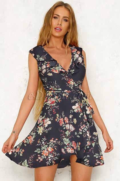 eDressit Sexy Printed Day Dress Summer Dress (35195168)