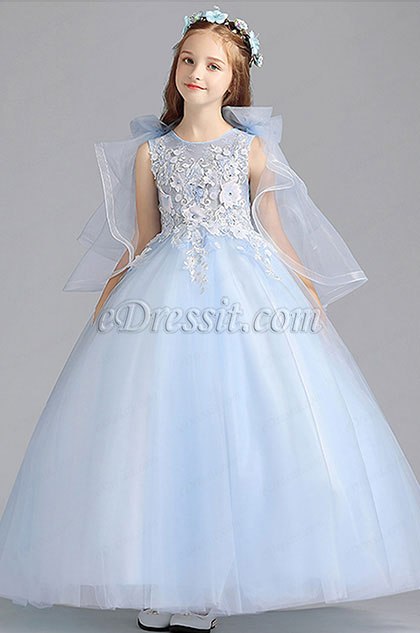 eDressit Princess Blue Children Wedding Flower Girl Dress (27201605)