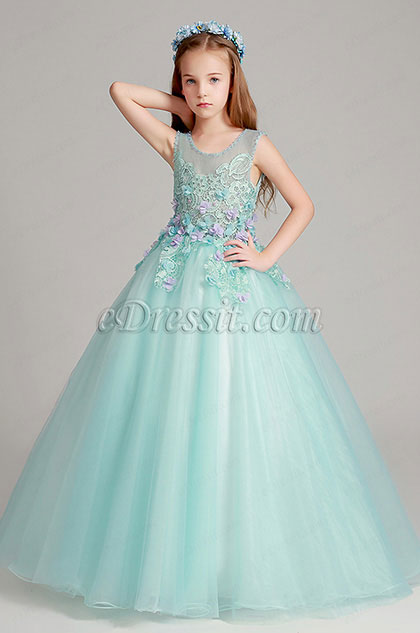 eDressit Green Long Flower Girl Dress Performance Party Dress (27191004)