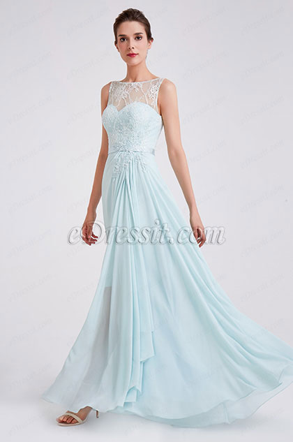 eDressit New Elegant A Line Chiffon Evening Party Dress (00190632)