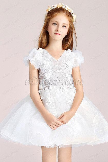 eDressit Short Sleeves Flower Girl Wedding Party Dress (28197307)