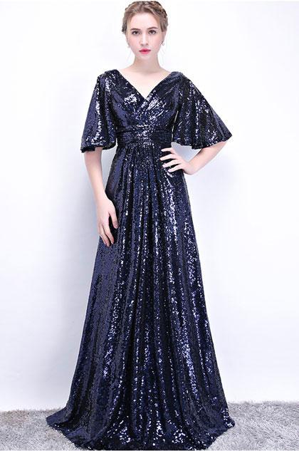 eDressit Sexy V-Cut Sequins Elegant Party Prom Dress (36215805)