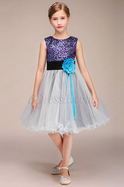 eDressit Multicolor Sequins Lovely Short Flower Girl Dress (28193108)