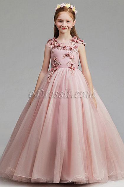 e7be134a8b0e eDressit Pink Flora Children Wedding Flower Girl Dress (27201446)