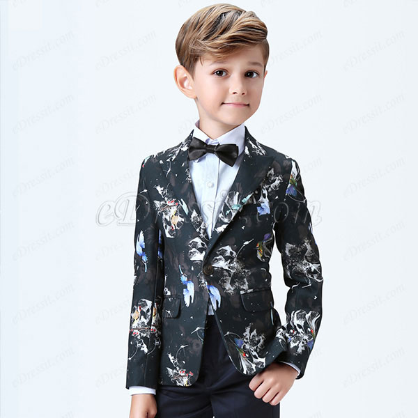 eDressit Boys Print One Button Closure Suits Tuxedo (16190568)