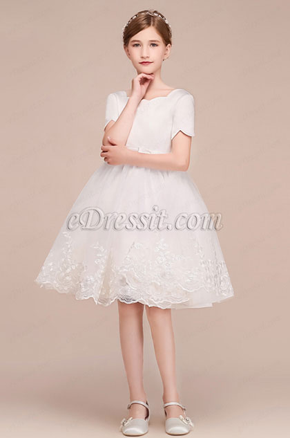 eDressit Short Slevees Princess Wedding Flower Girl Dress (28191207)
