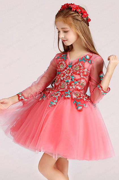 eDressit Cute Pink Little Girl Wedding Flower Girl Dress (28194857)