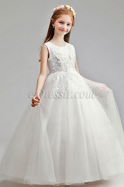 Romantic Wedding Flower Girl Party Dress