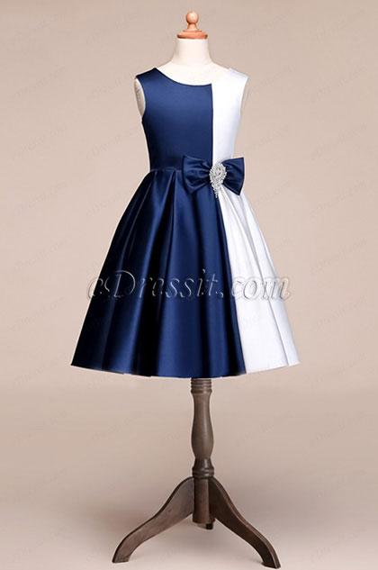 eDressit Lovely Short Blue-White Princess Party Girl Dress (28191305)