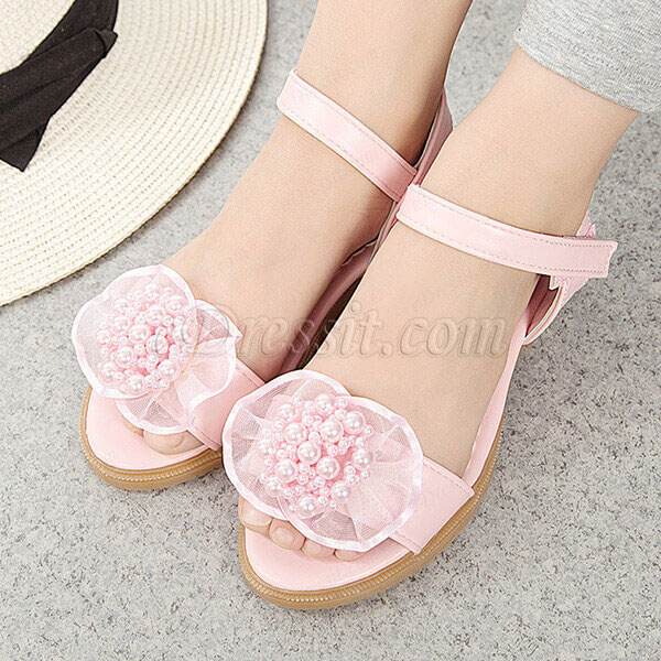 eDressit New Pink & White Open Toe Cute Party Sandals Shoes (250030)