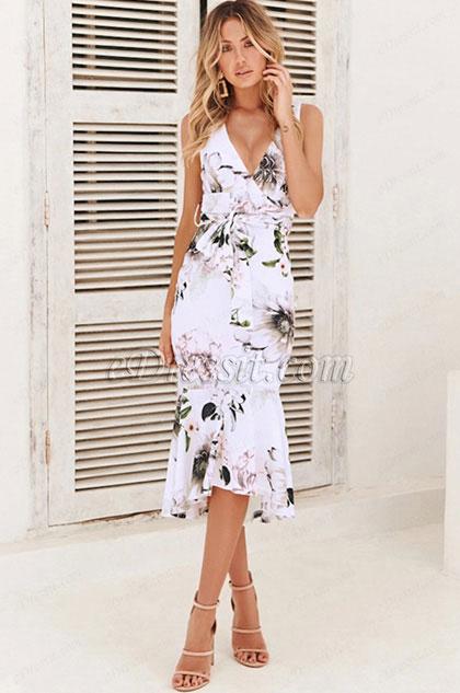 eDressit Sexy Mermaid Printed Dress Summer Wear (35195468)