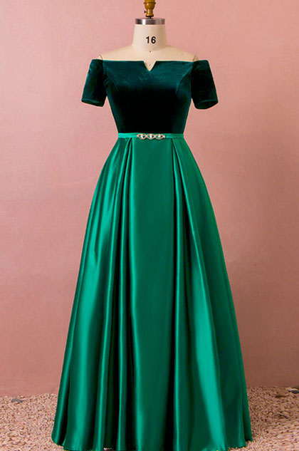 Edressit Green A Line Evening Dress Women Plus Size Dress