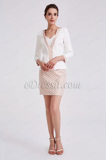 eDressit White Two Pieces Suit Mother of the Bride Dress (26190107)