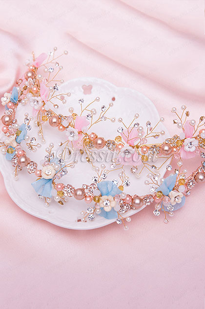 eDressit Shiny Beads Handmade Girl Headwear Hair Hoop (13191733)