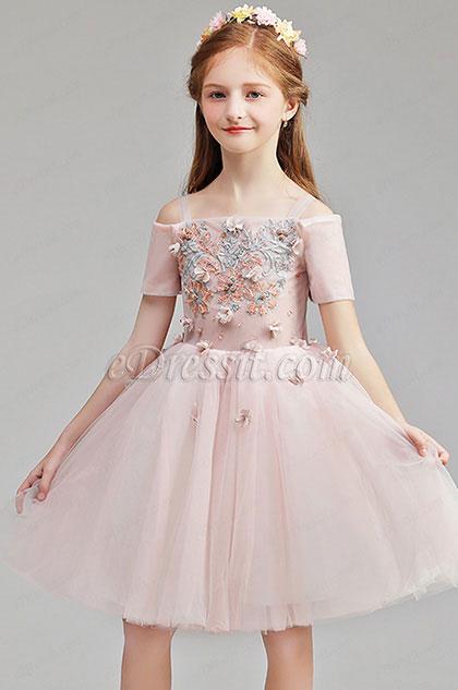 5281f8a82abc eDressit Lovely Off Shoulder Flower Girl Midi Dress (28194701)