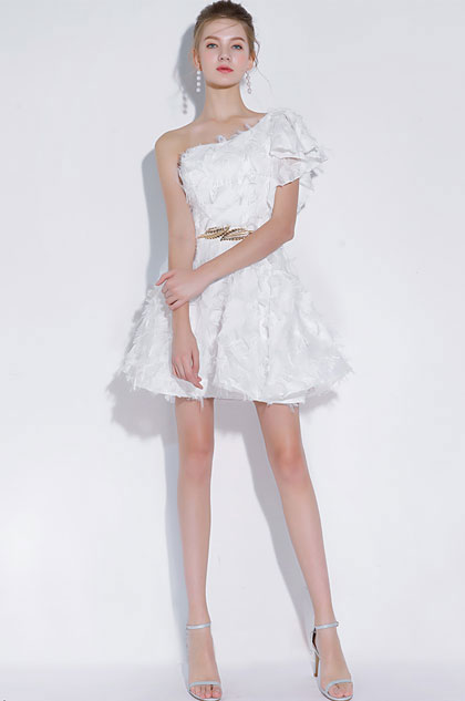 eDressit Sexy White Single Shoulder Short Cocktail Party Dress (35197807)