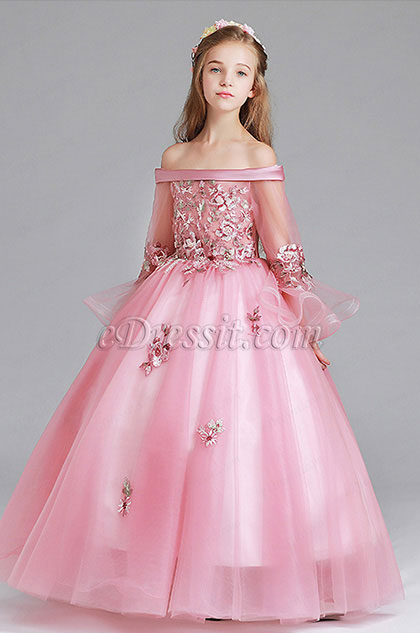 eDressit Off Shoulder Long Flower Girl Dress (27197946)