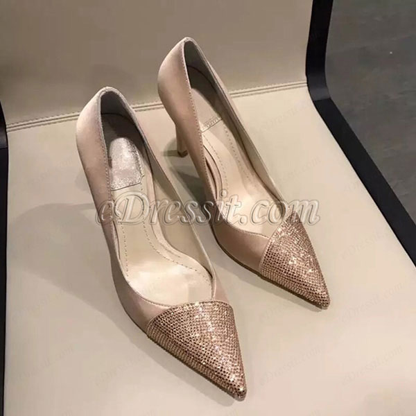 eDressit Women Sequins Toe Closed High Heels Shoes (0919046)