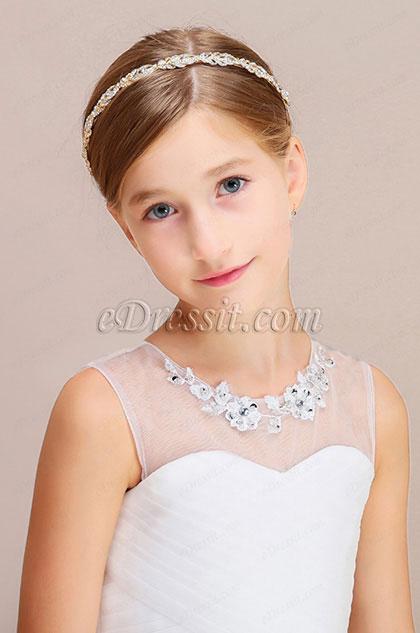eDressit Shiny Beads Girl Headwear Hair Hoop  (13190526)