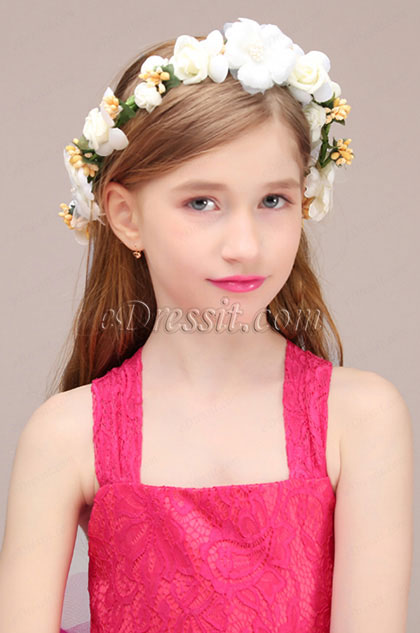 eDressit Floral Wreath Girl Headwear Hair Hoop  (13191268)