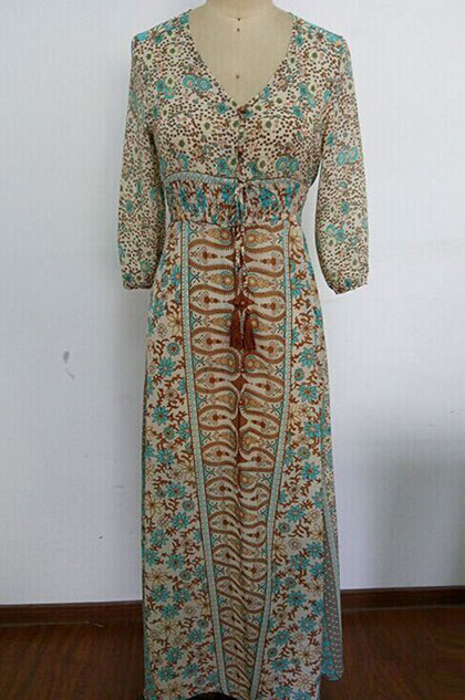 eDressit Sexy V-cut Plus Size Dress Holiday Dress Printed Dress (36214468)