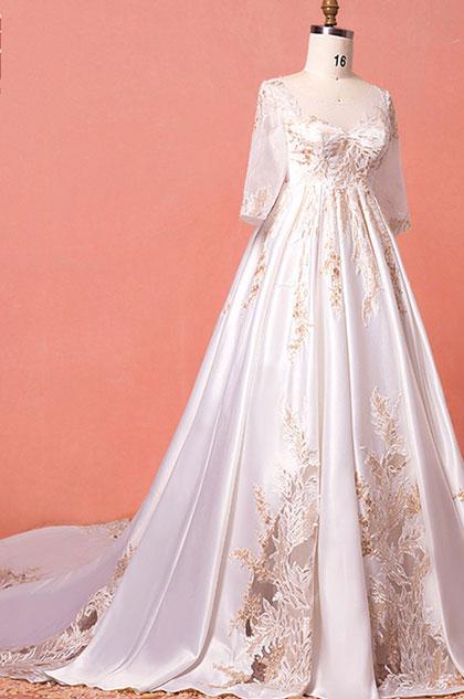 eDressit Sheer Top Lace Plus Size Wedding Dress (31194207)
