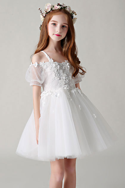 eDressit Princess White Children Wedding Flower Girl Dress (28198607)