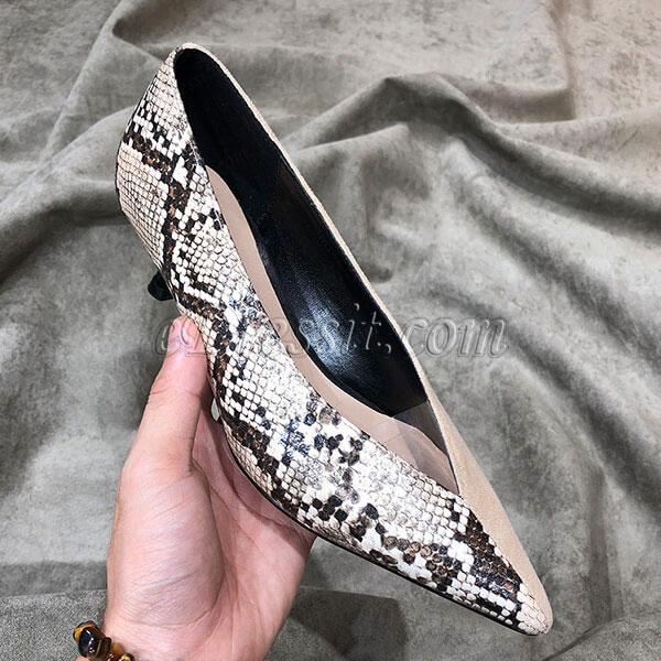 eDressit Women Leopard&Black Toe Closed High Heels Shoes (0919055)