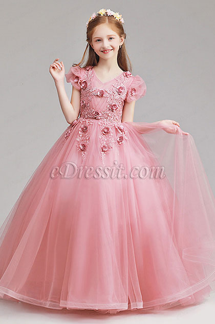 eDressit Long Lovely Pink Flower Girl Dress (27190946)