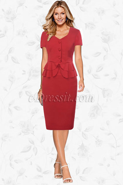 eDressit Classic Short Sleeves Mother of the Bride Dress (35194602)