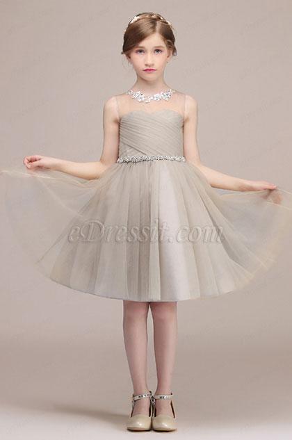 eDressit Light Grey Lovely Princess Wedding Flower Girl Dress (28191808)